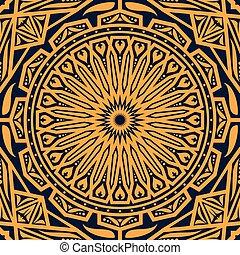 花のパターン, アラビア, 装飾, ラウンド