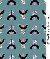 花のパターン, スタイル, seamless, スカンジナビア人