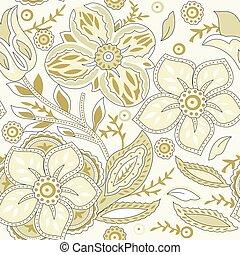 花のパターン, ベクトル, -, seamless