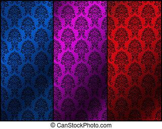花のパターン, レトロ