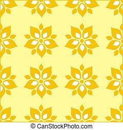 花のパターン, 壁紙