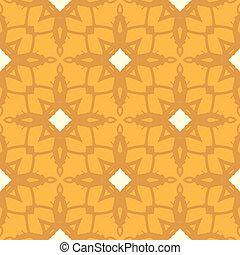 花のパターン, 幾何学的, 飾られた, モチーフ