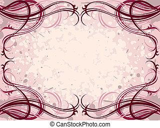 花のパターン, 抽象的, グランジ, 背景