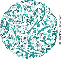 花のパターン, 抽象的, 円