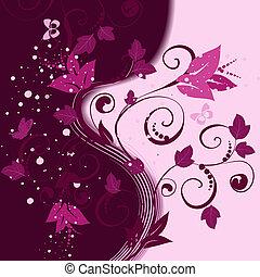 花のパターン, 抽象的, 背景