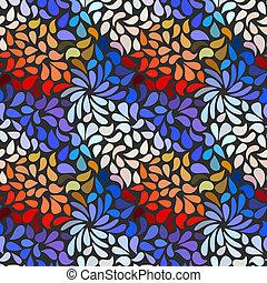 花のパターン, 抽象的, seamless