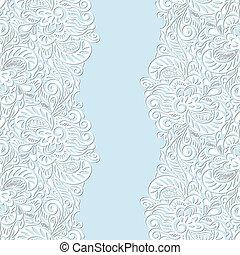 花のパターン, 抽象的, seamless, 巻き毛