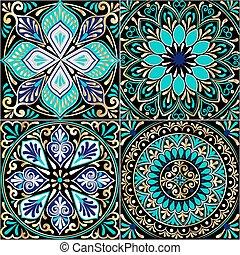 花のパターン, 正方形, seamless, カラフルである