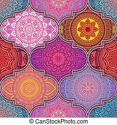 花のパターン, 民族, seamless, mandalas