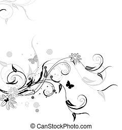 花のパターン, 蝶