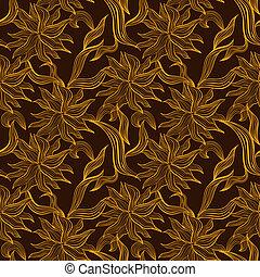 花のパターン, 装飾, レース, seamless