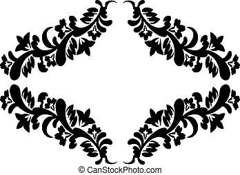 花のパターン, 黒