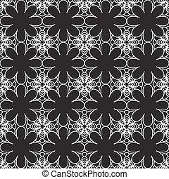 花のパターン, 黒, seamless