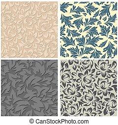 花のパターン, 4, seamless