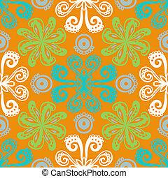 花のパターン, indian