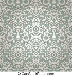 花のパターン, seamless, ダマスク織