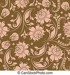 花のパターン, seamless