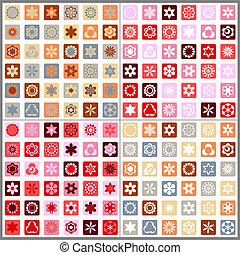 花のパターン, seamless, モザイク