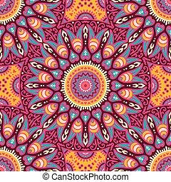 花のパターン, seamless, 民族