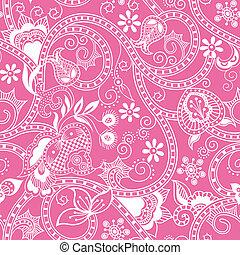 花のパターン, seamless, 4