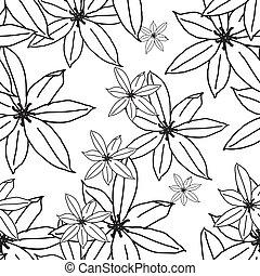 花のパターン, seamless, eps, 10