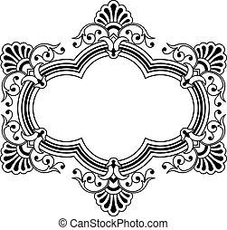 花のボーダー, calligraphic