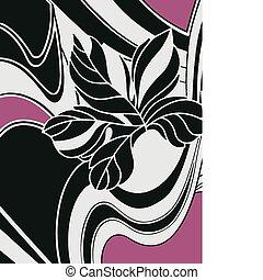 花の意匠, カード, 背景