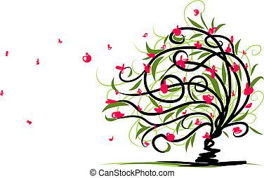 花の意匠, 抽象的, 木, あなたの
