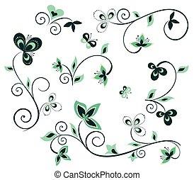 花の意匠, 要素