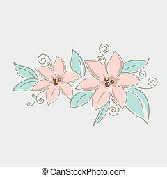 花の花束, 図画