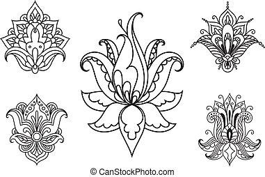 花の要素, イラン人, 装飾, ペイズリー織