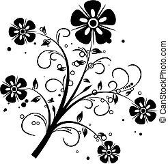花の要素, デザイン, ベクトル