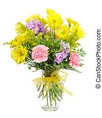 花の 整理, カラフルである, 花束
