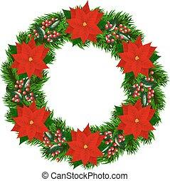 花冠, 聖誕節, 一品紅