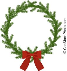 花冠, 聖誕節, 帶子
