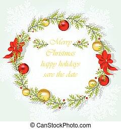 花冠, 輪, 聖誕節