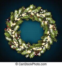 花冠, lights., 聖誕節