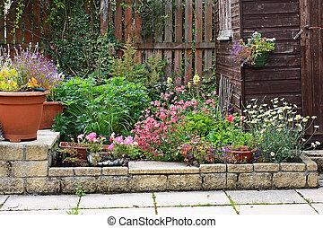 花园, 石头, 地形