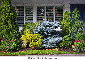 花園, 前面, 房子