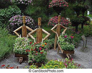 花園, 雕像