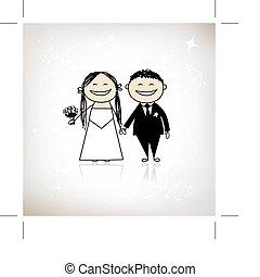 花婿, あなたの, 結婚式, -, 式, 一緒に, デザイン, 花嫁