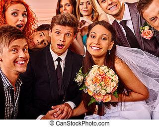 花嫁と花婿, 中に, photobooth.
