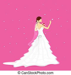 花嫁, ∥で∥, 花束