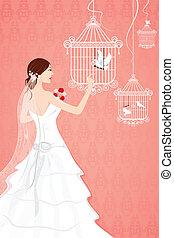 花嫁, ∥で∥, 鳥かご