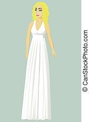 花嫁, ギリシャ語, 服, 結婚式