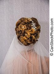 花嫁, ヘアスタイル, 白い結婚式