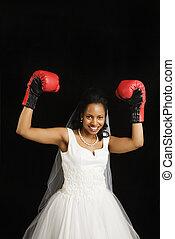花嫁, ボクシング, gloves.