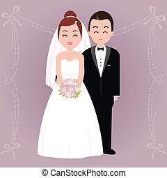 花嫁, 手入れをしなさい。, ベクトル, イラスト