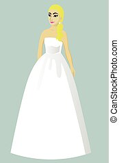 花嫁, 服, 王女, 結婚式