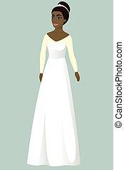 花嫁, 服, a-line, 結婚式